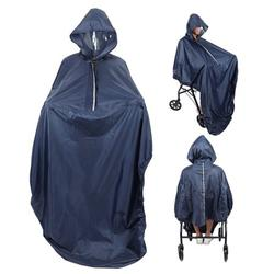 DOACT Wheelchair Rain Coat,Hooded Wheelchair Rain Cover Waterproof Soft Wheelchair Rain Coat, Hooded Wheelchair Rain Cover
