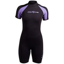 Neosport Womens 3mm Premium Neoprene Shorty (Black, 14)