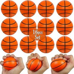 Mini Basketball Stress Balls 16 Pcs Pack 2.5� Inch Mini Basketballs for Kids Small Basketball Party Decoration Party Favors, Small Soft Foam Basketballs Basketball Party Goodie Toy By Anapoliz