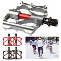 1 PAIR Mountain Bike Pedals Aluminum Alloy Cycling 3 Sealed Bearing Flat Platform Pedal Lightweight Non Slip for MTB Road Bicycle
