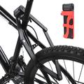 OTVIAP Bicycle Lock Bicycle Folding Security Anti-theft Lock For Motorcycle Mountain Bike With Lock Sleeve Anti Theft Security