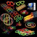 """Joyin Glow Sticks 200 Piece Party Set - Includes 200 8"""" Glowsticks and 256 Plastic Connectors for Eyeglasses, Bracelets, Necklaces, and More"""