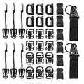 Onever 32Pcs Tactical Molle Attachments Tactical Gear Clips Nylon Buckle Military D-ring Locks Tactical Hydration Water Tube Clips For Hiking Camping Outdoor Survival