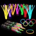 """300 Glow Sticks Bulk Party Supplies - Glow in The Dark Fun Party Pack with 8"""" Glowsticks and Connectors for Bracelets and Necklaces"""