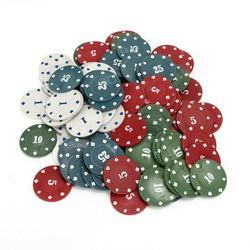 Mgaxyff Digital Poker Chip,100pcs / Box Poker Chips Professional Family Educational Digital Chips Poker Chips Set,Poker Chips Set