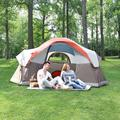MF Studio 6 Person Pop up Dome Tent Portable Camping Tent with Carry Bag for Outdoor Picnic Hiking Camping Beach, Orange