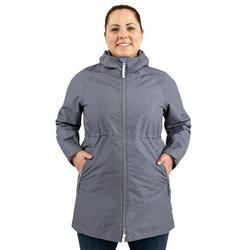JAN & JUL Women's Rain Jacket Waterproof with Hood Lightweight Raincoat (Heather Grey, Size L)