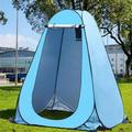 Portable Outdoor Popup Shower Tent Privacy Tent Camping Beach Toilet Changing Tent Room Rain Shelter with Window for Camping and Beach with Carry Bag, Blue or Green