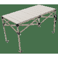 "Rio Gear Aluminum Roll Top Camping Table, 48"" x 25"", Silver"