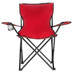 Clearance! Camp Chair Folding Chair Portable Camp Chair Stable Lightweight Outdoor Lawn Chairs 80x50x50 Red