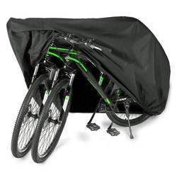 EUGO Bike Cover for 2 or 3 Bikes Outdoor Waterproof Bicycle Motorcycle Covers XL XXL Oxford Fabric Rain Sun UV Dust Wind Proof for Mountain Road Electric Bike Tricycle 210D-XL for 2 bikes