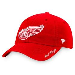 Detroit Red Wings Fanatics Branded Women's Core Primary Logo Adjustable Hat - Red - OSFA