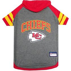 Pets First NFL Kansas City Chiefs NFL Hoodie Tee Shirt for Dogs & Cats - COOL T-Shirt, 32 Teams - Extra Small