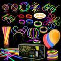 Multicolor Glow Sticks Bulk Party Pack – 248 Piece Light Stick Set – Includes 100x 8� Glow Sticks, 10x 11� Glow Sticks, 4x 3 Hole Joints, 110x Connectors, 4x Butterfly Bracelets, 5