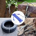 20M 3-claws Grappling Hook Steel Carabiner Climbing Safety Rope Cord Life-Saving Emergency Escape Rope for Outdoor Climbing Anchor Retrieving Hiking Tree Limb Removal-Blue