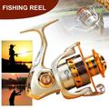 CVLIFE Right Left-Handed Spinning Fishing Reels Saltwater Freshwater Lightweight Fishing Reel Metal Aluminum Alloy Bearings 12BB 5.5:1 Gold