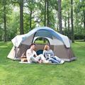 MF Studio 6 Person Easy Setup Dome Tent Portable Camping Tent with Carry Bag for Outdoor Picnic Hiking Camping Beach, Blue