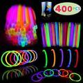 "Neon Glow Sticks Glow Sticks Bulk 400 8"" Glowsticks, Glow Stick Bracelets; Glow Necklaces; Glow in the Dark, July 4th, Christmas, Halloween Party Supplies Pack, Football Party Supplies"