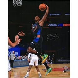"RJ Barrett New York Knicks Autographed 16"" x 20"" Dunk in Black Photograph - Fanatics Authentic Certified"