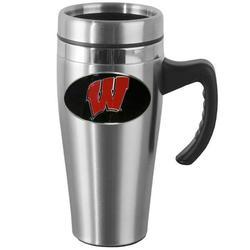 Wisconsin Steel Travel Mug w/Handle