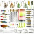 110Pcs/set Mixed Models Fishing Lures Crank Bait Tackle Hooks Minnow Bass Baits Tackle + Box