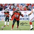 """Shaquil Barrett Tampa Bay Buccaneers Autographed 8"""" x 10"""" At The Line Photograph - Fanatics Authentic Certified"""