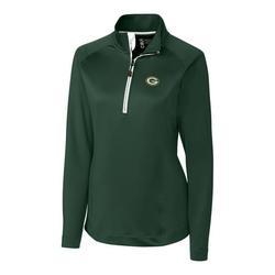 Green Bay Packers Cutter & Buck Women's Jackson Half-Zip Overknit Pullover Jacket - Green