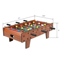 """27"""" Foosball Table, Wooden Soccer Game Table Top w/ Table Football/Soccer game, Easily Assemble Foosballs"""