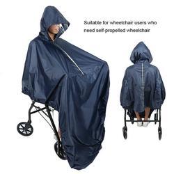 OTVIAP Hooded Wheelchair Rain Cover Waterproof Soft Wheelchair Rain Coat, Wheelchair Rain Cover, Waterproof Wheelchair Rain Cover