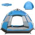 Hongyi 3-4 Persons/5-7 Persons Popup Tent, Double Layer Family Camping Tent, Waterproof Windproof Easy Set up for for Camping, Backpacking, Hiking & Outdoor Music Festivals Outdoors