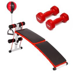 Fayshow0 Bench Weight Bench Adjustable Workout Bench Flat Bench Weight Bench Exercise Bench Adjustable/Foldable Dumbbell Bench Workout Benches for Home With A Pair of 1Kg Dumbbells