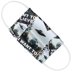 The X-Files Kids I Want to Believe Posters 2-Ply Reusable Cloth Face Mask Covering