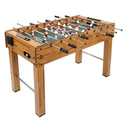 """Multi Game Table, 3-in-1 48"""" Combo Game Table w/ Soccer, Billiard, Slide Hockey, Wood Foosball Table, Perfect for Game Rooms, Arcades, Bars, Parties, Family Night"""