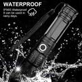 Rechargeable LED Flashlight, Strong Light Flashlight Retractable LED Aluminum Flashlight USB Rechargeable Waterproof XHP50 Super Bright 5 Modes, Suitable For Outdoor Activities, Emergency
