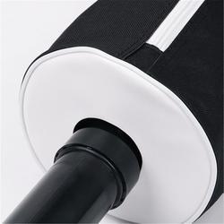 Black Zipper Golf Ball Pick Up Retriever Shag Bag Hold Up To 70 Balls