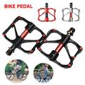 1 PAIR 3 Bearings Bike Pedals BMX Road MTB Bicycle Flat Platform Pedals Mountain Road Cycling Aluminum Alloy Lightweight Anti-rust