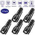5 Pack Tactical Flashlight Torch, Military Grade 5 Modes XML T6 3000 Lumens Tactical Led Waterproof Handheld Flashlight for Camping Biking Hiking Outdoor Home Emergency