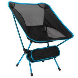 Camping Chair Portable Ultralight Compact Folding Camping Backpack Chairs with Carry Bag Heavy Duty 265lb Capacity Compact Lightweight Folding Chair for The Outdoors, Camping, Hiking, Blue/Orange