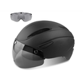 Cycle Helmet/Bike helmet,CE Certified,Bike Helmet with Detachable Magnetic Goggles Visor Shield for Men Women Mountain & Road Bicycle Helmet Adjustable Adult Safety Protection Ski & Snowboard