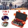 JANSION 7pcs Survival Gear First Aid Kit SOS Bag Emergency Survival Kit For Home Outdoor Emergency First Aid Survival Gear Tool Tactics Kits Set Camping Updated