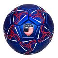 Western Star Official Match Game American Soccer Ball Size 5?Official Size and Weight Indoor and Outdoor Training Ball USA (Navy Blue)
