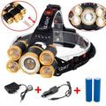 New Arrival Rechargeable Headlamp,5 LED Headlamp Flashlight ,4 Modes USB Rechargeable Waterproof Head Lamp for Outdoor Camping Cycling Running Fishing, Head Lamps for Adults