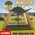 Hongyi Outdoor Family Camping Tent Durable Waterproof Family Large Tents 4/6 Person, Easy Setup Tent with Porch Double Layer, Green