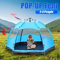 Automatic Tent Outdoor Waterproof Camping Tent 3-5 Person Lightweight Water Resistant Dome Tent with Carry Bag, Windproof, UV Protection, for Camping Hiking Mountaineering