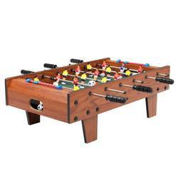 """27"""" Foosball Table, Wooden Soccer Game Table Top Adults and Kids w/ Footballs, Suitable for Game Room, Bars, Parties, Family Night"""