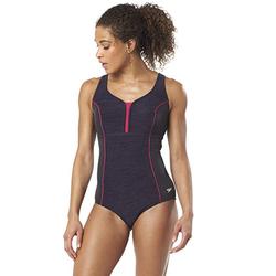 Speedo Women's Swimsuit One Piece Endurance Touchback Black, Size 12