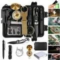 Kepeak Survival Kit, 14 in 1 Survival Gear and SOS Aid Equipment, for Men, Emergency Survival Kit for Hiking, Hunting, Camping Adventures, Outdoors Sport for Men Dad Him Husband Boyfriend Teen Boy