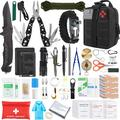 Gifts for Men Dad Husband Fathers Day, Survival Gear and Equipment, 100 Pcs Survival Kit Molle System Compatible Outdoor Gear Emergency Kits Trauma Bag for Camping Hunting Hiking and Adventures