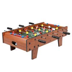 Shengshi Tabletop Foosball Table Portable Mini Table Football Soccer Game Set Log color 27''