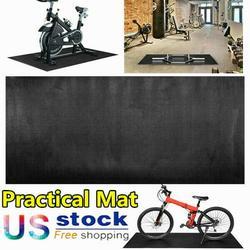 PVC Sport Equipment Mat -Treadmill Mat, Exercise Bike Mat, Fitness Mat, Elliptical Mat, Jump Rope Mat, Gym Mat Treadmill Mat Exercise Bike Mat Floor Protection 200*90*0.6cm Black